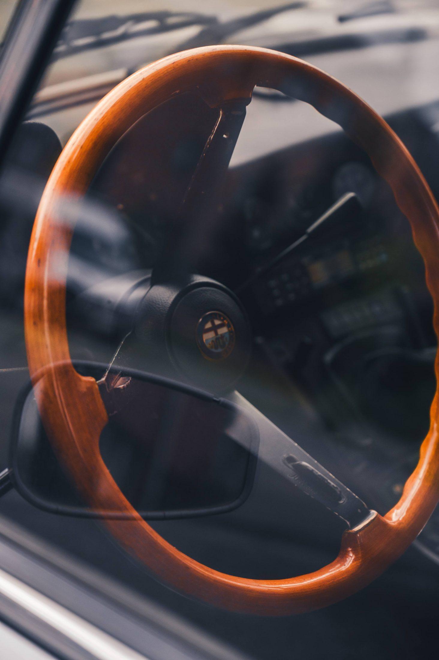 Alfa Romeo old steering wheel