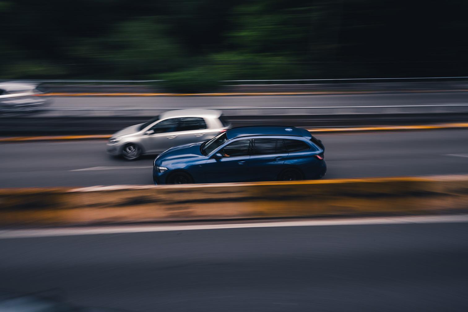 Brussel car BMW panning shot